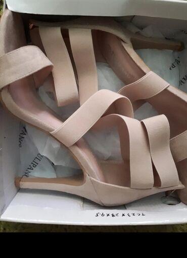 Prodajem bež sandale, jednom nošene,kao nove,bez oštećenja