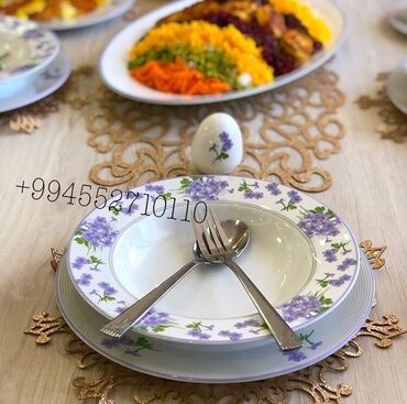 luminarc наборы посуды в Азербайджан: 12 neferlik yemek desti195 manat:12 aş boşqab12 dolma boşqab12 derın