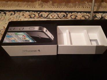 Продаю оригинал коробку от apple iphone 4 16gb чёрного цвета. в Бишкек