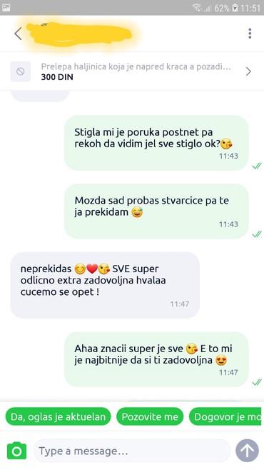 Ženske jakne - Srbija: Prioritet je zadovoljan kupac!Jedan deo mojih dragih musterija!Kupite