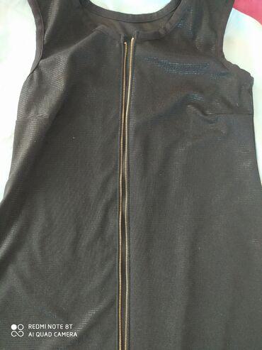Черное, длинное женская безрукавка- платье. Удобно накинуть сверху