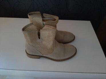 Italijanske cizme br - Srbija: Zenske letnje italijanske cizme od prevrnute koze br.37.malo nosene