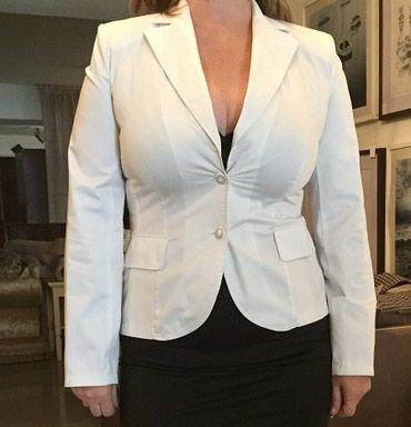 Пиджак белый стильный,новый,размер 48-50. в Бишкек