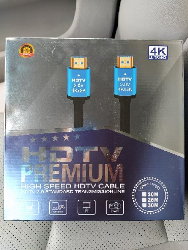 HDMI to HDMI 4K HD kabel sxemali 30metr keyfiyyetli qutuda yeni say
