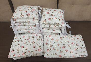 Продаю бортики в кроватку, 12 подушек, 1 одеяло, 1 подушечка, 2
