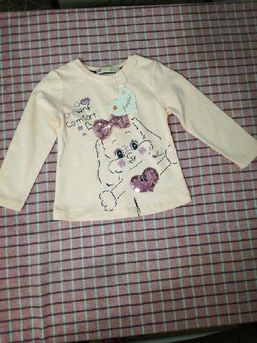 Nova sa etiketom bluzica za devojčice, veličina 86, za do godinu - Vranje