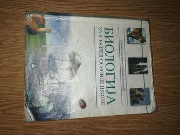 Knjiga za osnovnu skolu, biologija za 8. Razred, ocuvana, nema