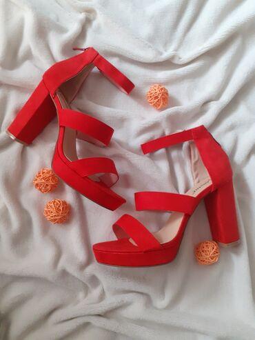 NOVO! 1300 din kupljene su za 2600din Crvene sandale broj 40 nisu