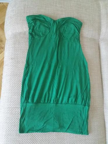 Cna broju - Srbija: Zara pamucna zelena haljina u broju M. Ne moze pristajati broju S