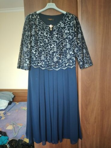 вечернее платье темно синего в Кыргызстан: Красивое вечернее платьеСмотрится шикарноСостояние идеальноеПокупали в