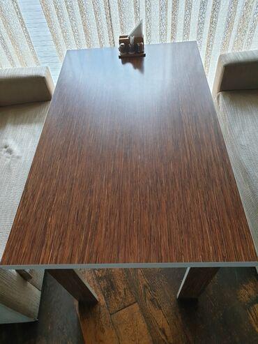 çarpayıya bitişik stol - Azərbaycan: 6 nəfərlik masa satılır. Ideal vəziyyətdədir qiyməti 60 manat.Mərmər