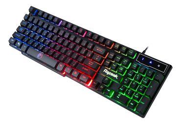 Клавиатуры в Кыргызстан: Keyboard Winstar Razeak RK-8165 GAMING BLUE/RED LED RUS USB