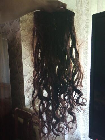 Украшения - Лебединовка: Накладные волосы 65 см на заколочках 1500 сом