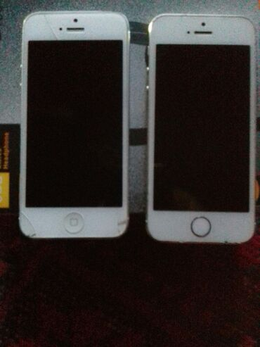 Электроника - Кадамжай: IPhone 5 | 32 ГБ | Серебристый Б/У | Трещины, царапины