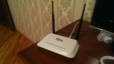 Bakı şəhərində Netis wf2419r. Wireless wan router. Optik(metroethernet) internete qos
