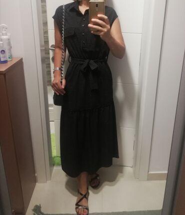 P s haljina - Srbija: Haljina P&S crna sa belim tufnucama. U odlicnom stanju. Velicina