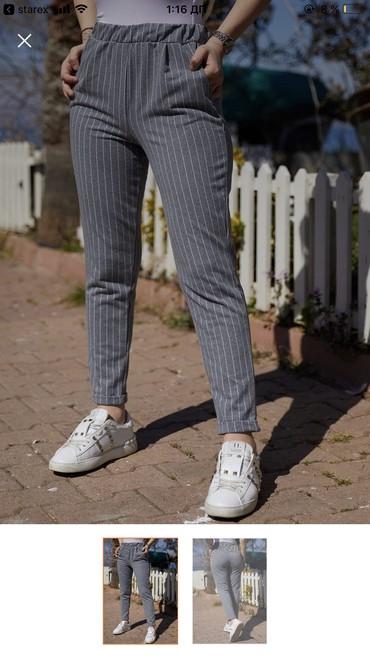 женские-брюки-новые в Азербайджан: Inetle sifariw olunub razmeri boyuk oldugu ucun satilir xl razmer eti