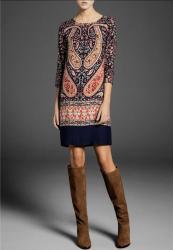 льняные вязаные платья в Кыргызстан: Платье Коктейльное Massimo Dutti M