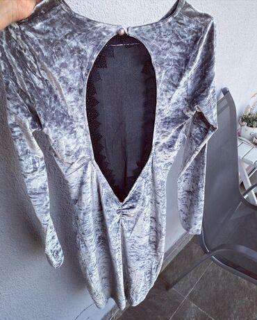 Haljinica od plisa siva u odlicnom stanju, nosena je samo jednom za sv