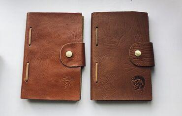 Блокнот - Кыргызстан: Кожаные блокноты ручной работы и кожаная визитница  Размеры разные