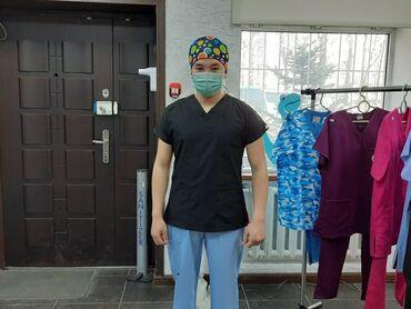 Медицинская одежда - Кыргызстан: Медицинские чепчики,   подойдут обладательницам длинных волос. Удобны