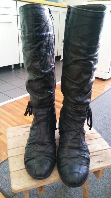 Crne kozne cizme.vrlo udobne.br.39 - Jagodina