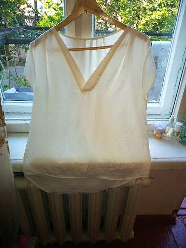 Классная блузка цвета айвори, шелк в Бишкек