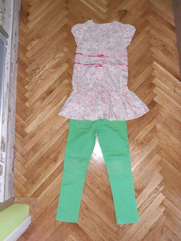 Kosulja-tunika vel.8 i tanke zelene pantalone vel.za dete 6-7 god.U