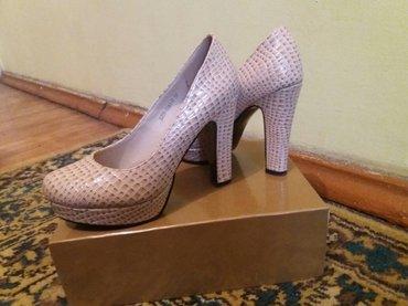 Размер 37 , цвет бежевый кож.зам .Причина продажи не подошел размер .  в Бишкек