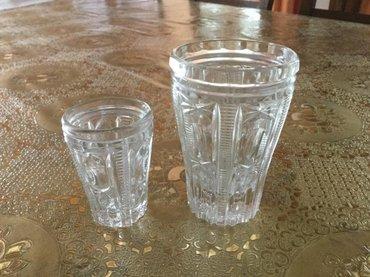 """Хрусталь.набор """"стакан, стопка"""" - хрусталь 50%. цена за стакан 60 сом"""