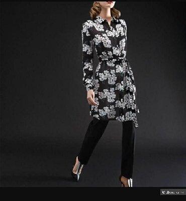Платье-рубашка Кензо 46-48р 2600