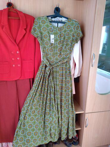 Личные вещи - Кызыл-Суу: Платье летнее материал не мнётся, дышет хорошо цвет красивый