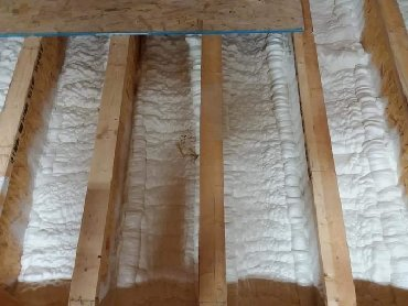 Утепление крыш термопеной Айсинин Icynene   ППУ, Напыляемый Пенополиур