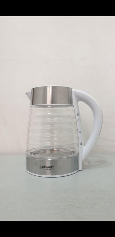 Электро чайник Техномир стеклянные металлические