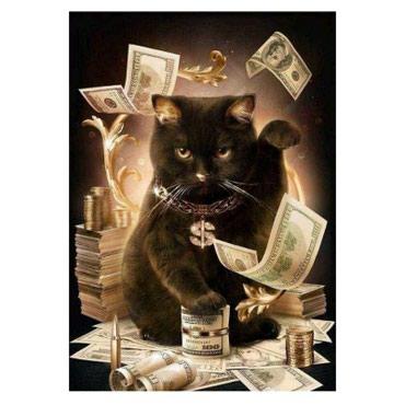 Алмазная картина 5Д - «Денежный кот». в Бишкек