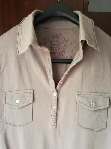 Pamucna bluza lepa boja peska,vel:M - Beograd - slika 2