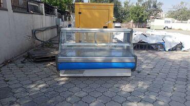 kamin iz mramora в Кыргызстан: Б/у Холодильник-витрина Белый холодильник