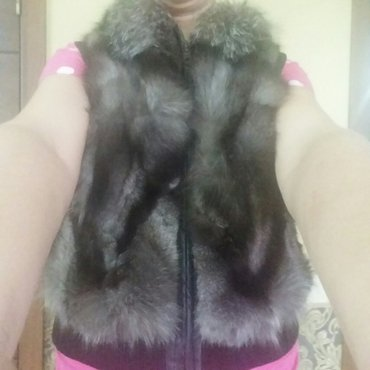Безрукавка чернобурка (натуралка). в Бишкек