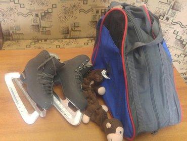 Продаю б/у коньки Edea(Италия) черного цвета размер 21 + в подарок сум в Бишкек