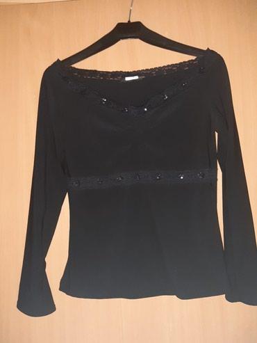 Crni sa cipkom - Srbija: Elegantna crna body trendy majica dugih rukava sa cipkom, moze se