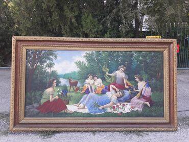 """Продаю картину """"Песнь раннего утра """",Холст/масло,большого размера"""