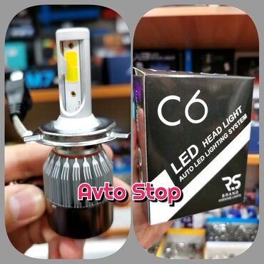 fotoaparat aksesuarlari - Azərbaycan: LED lampa H4RS BRAND C6 H4 led lampa.Dalni ağ. blijni sarı.90 gün