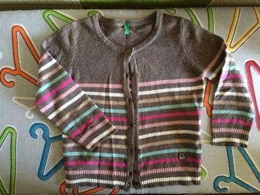 Benetton baku - Azərbaycan: Детский жакет, цвет - коричневый в полоску на 12 месяцев (Benetton)