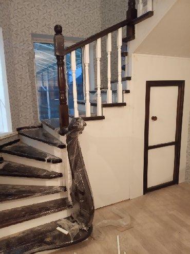 Мебель на заказ в Бишкек: Лестница тепкич на заказ всех видов карагач кара жыгач сосна дуб орех