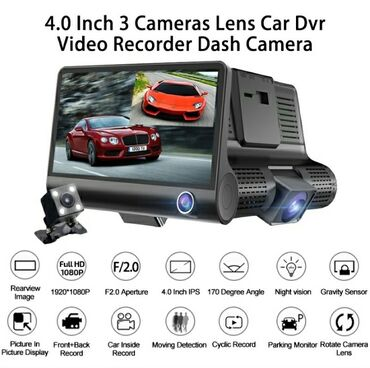 Auto kamere - Srbija: Auto kamera-DVR – monitor 4″ – 3 kamere – night vision – Full HD 4500