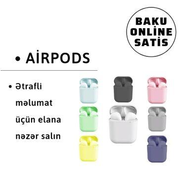 Airpods, bluetooth qulaqliq, elektronikaƏsas Xüsusiyyətlər:Bluetooth