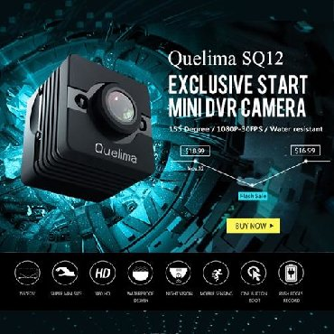 мини камера в Кыргызстан: Мини камера sq12 водонепроницаемая Датчик движенияНочное видение