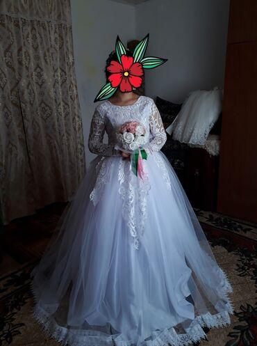Свадебные платья - Кок-Ой: Продаю свадебное платье. Шила для себя. 46размер