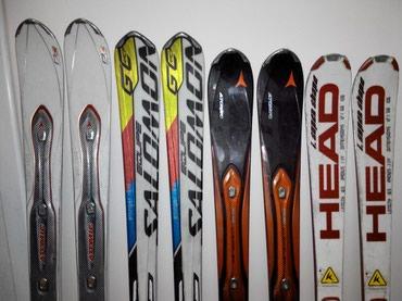 Продаю бу горные лыжи atomic, salomon, head от 9500 до 12000 сом в Бишкек