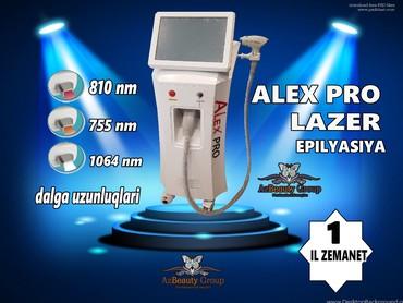 Bakı şəhərində LAZER EPILYASIYA APARATI Alex pro yeni model lazer aparati aleksandrit
